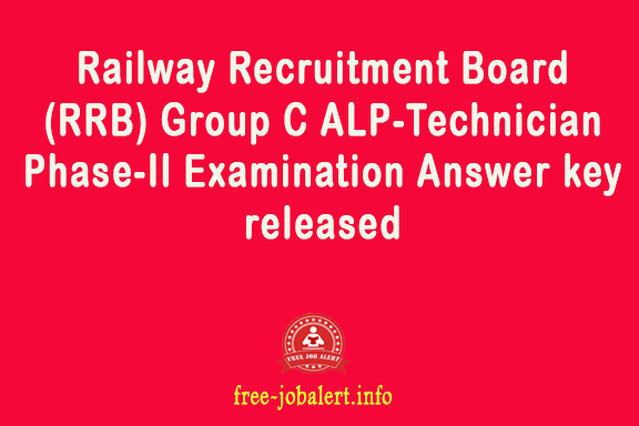 RRB ALP Latest News in English - Railway Recruitment Board (RRB) Group C ALP-Technician Phase-II Examination Answer key released
