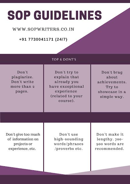 SoP guidelines for UK