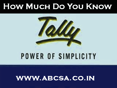 tally question and answers online