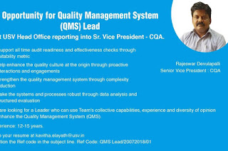USV LIMITED  Opportunity for Quality Management
