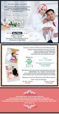 Template Undangan Softcover Kalender