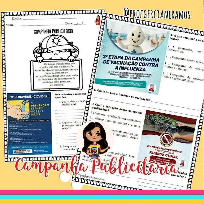 CAMPANHA PUBLICITÁRIA - INTERPRETAÇÃO DE TEXTO
