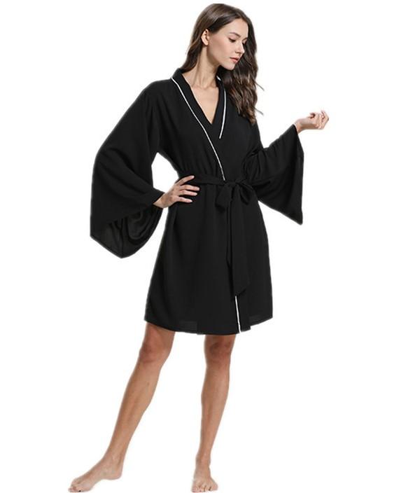 Áo choàng voan kimono form rộng thướt tha