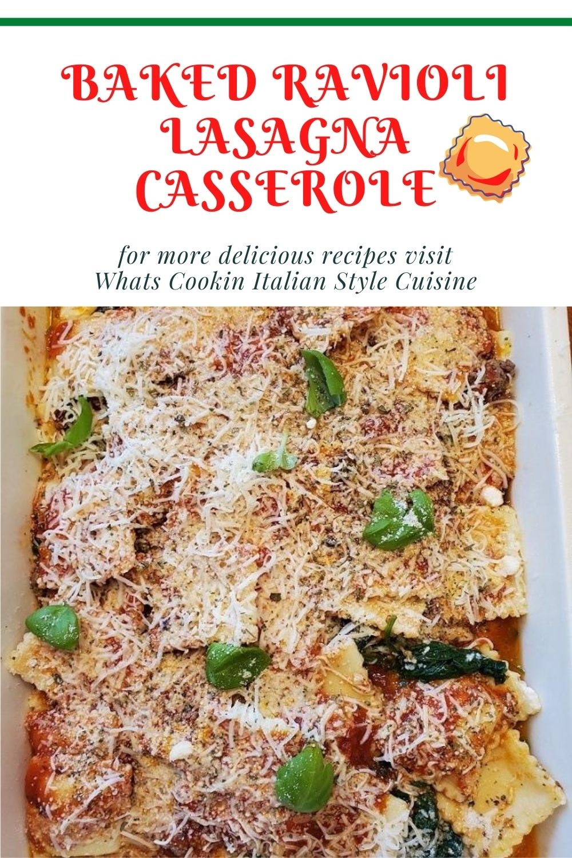 layered ravioli to make lasagna pin for later