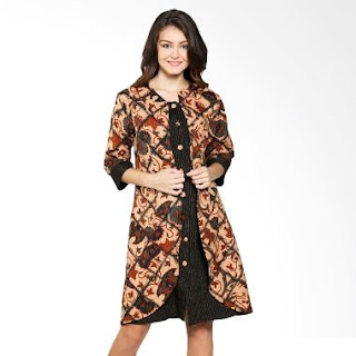 Contoh Model Dress Batik Modern