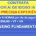 CLINICA GERIÁTRICA CONTRATA CUIDADOR (A) DE IDOSO COM SALÁRIO DE R$1,350.00 MENSAIS MAIS BENEFÍCIOS