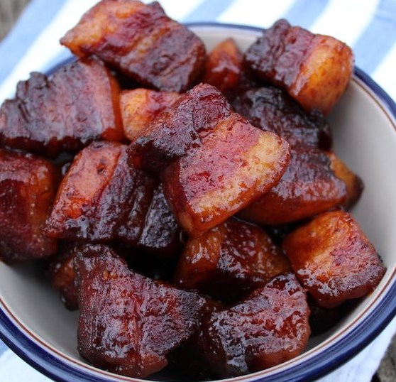 Smoked Pork Belly Burnt Ends #dinner #delicious