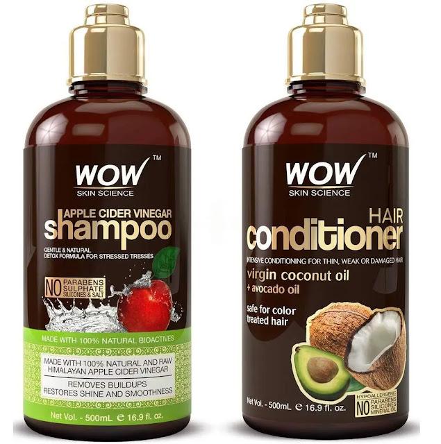 14- WOW Apple Cider Vinegar Shampoo and Hair Conditioner