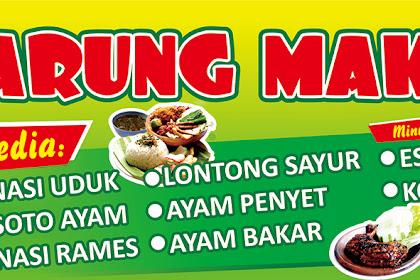 Download Desain Gratis Banner Spanduk Warung Makan CorelDraw cdr Terbaru