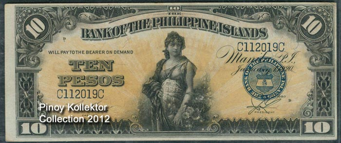 Bank Of The Philippine Islands 10 Pesos Banknote