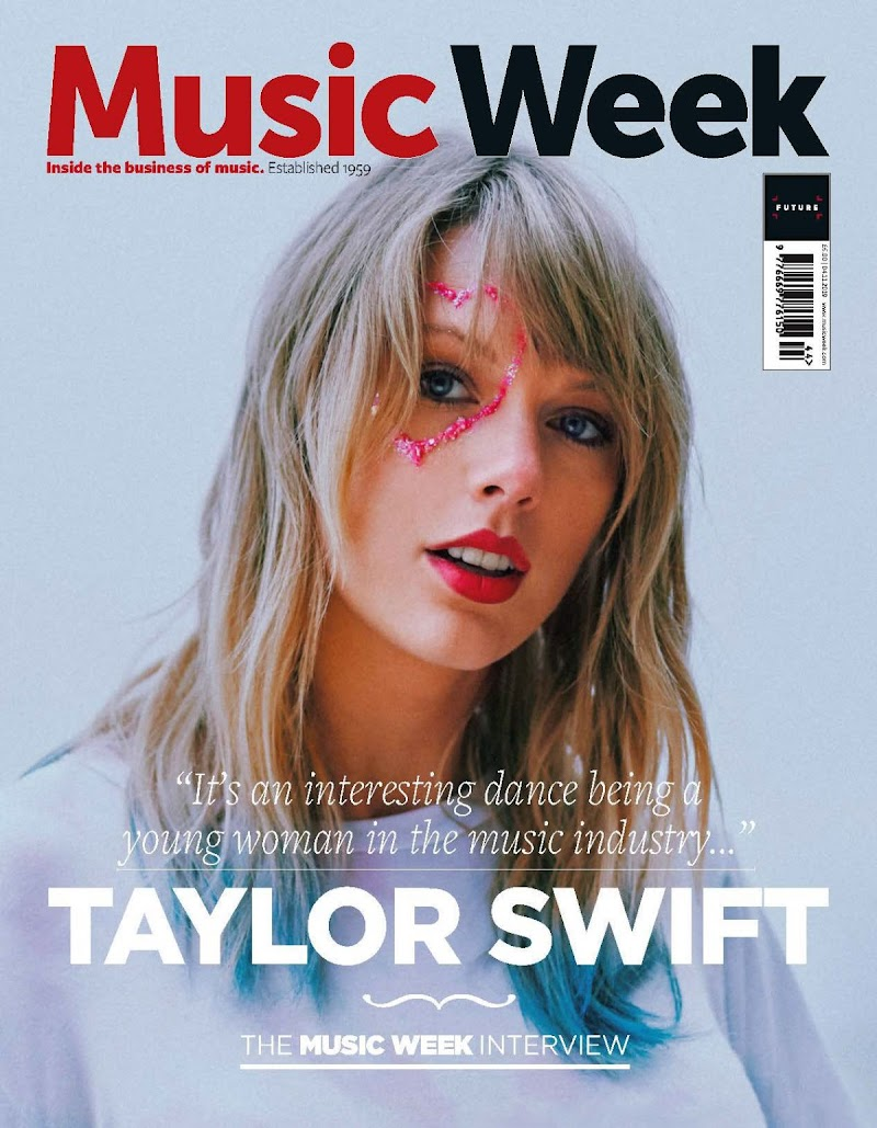 Taylor Swift Featured on the Cover of Music Week Magazine - November 2019
