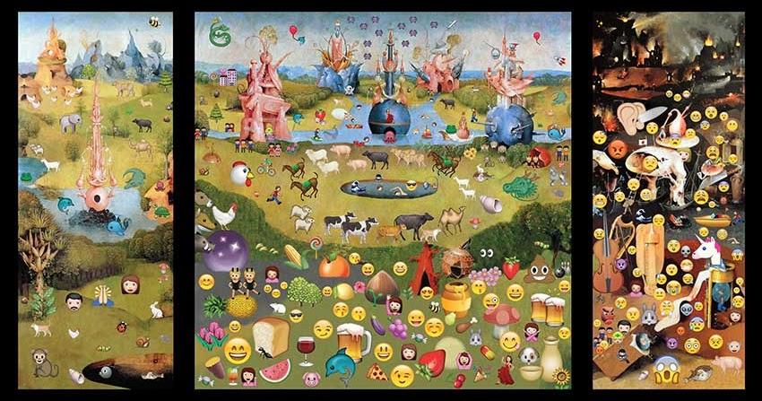 Edurne herr n el jard n de las emoji delicias grey flag for El jardin de las delicias significado
