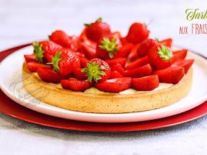 Tarte aux fraises traditionnelle avec crème pâtissière