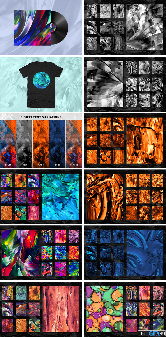 100 Flow Fluid Abstract Paintings Vol 3