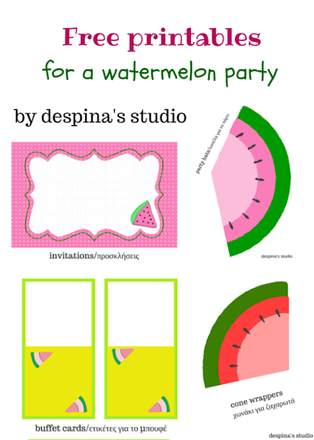 Watermelon party Free Printables set