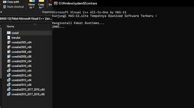 Paket Lengkap Microsoft Visual C++