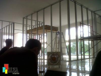 Partisi ruang kantor gypsum surabaya