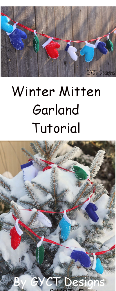Winter Mitten Garland Tutorial GYCT