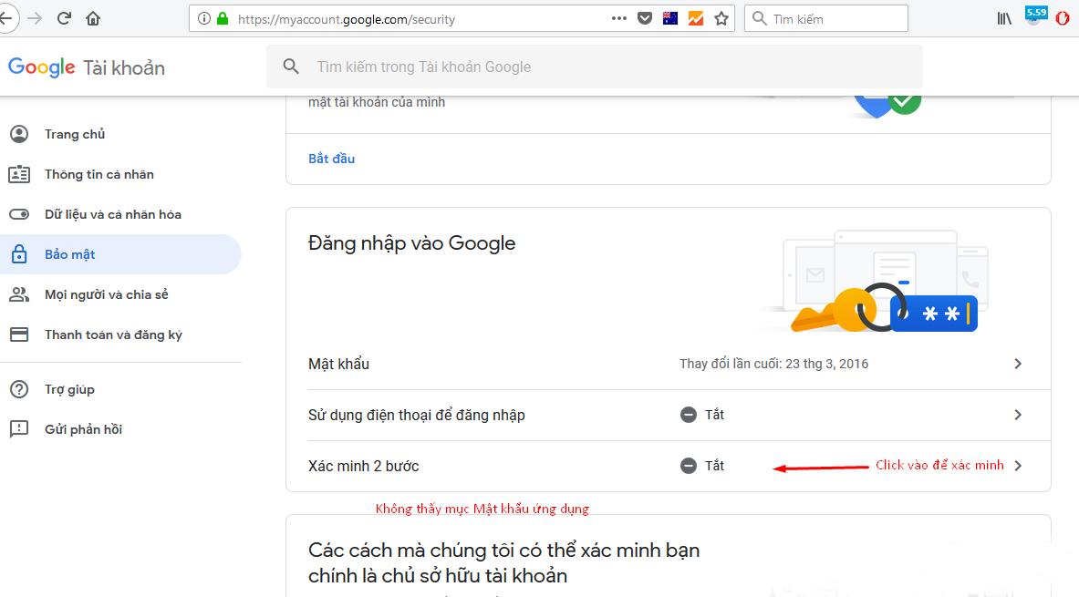 Hướng dẫn tạo mật khẩu ứng dụng cho Gmail -2