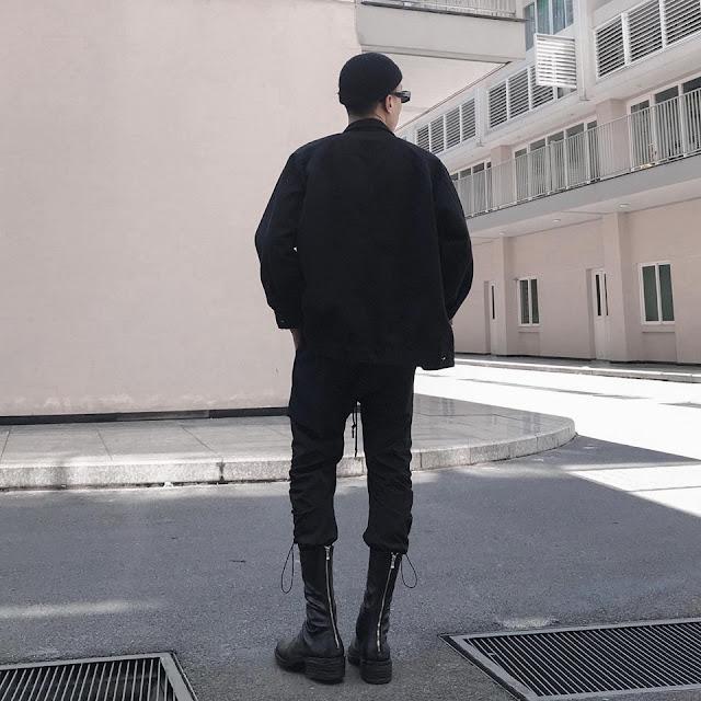 WALKER 801B - WALKER BACK ZIP BOOTS IN BLACK (SS2021)