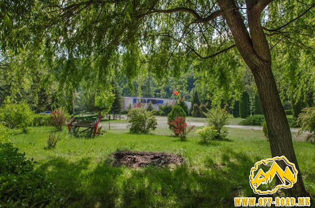 View toward the museum - ASNOM memorial center in Pelince village, Macedonia