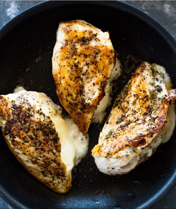 Juicy Cheese Stuffed Chicken Breasts