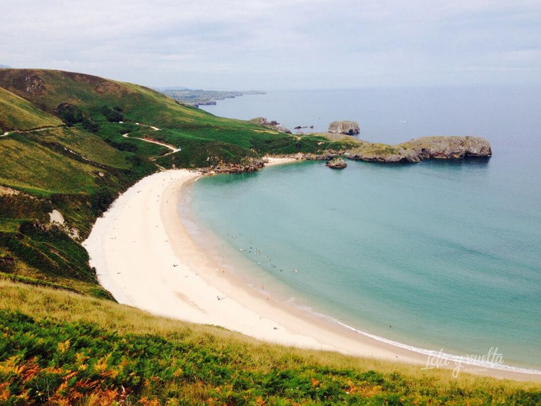 Playa de Torimbia en Asturias