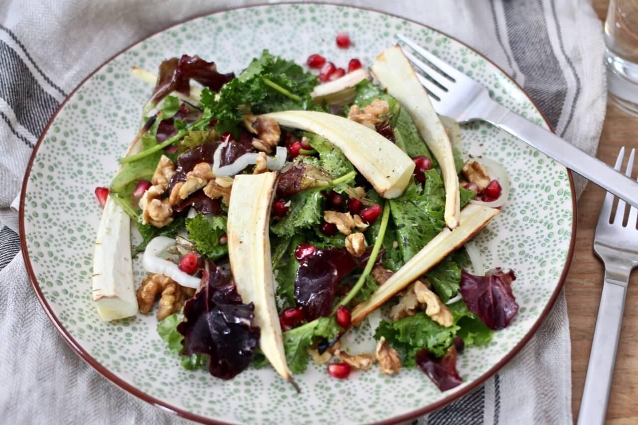 Lauwarmer Pastinaken-Salat