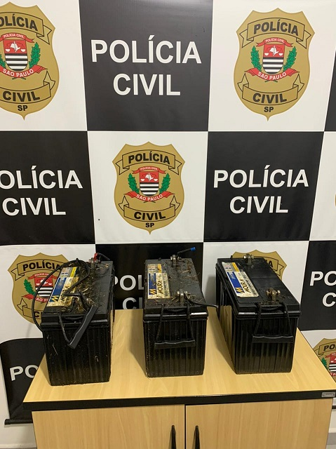 Polícia Civil de Miracatu prende em flagrante receptador de baterias