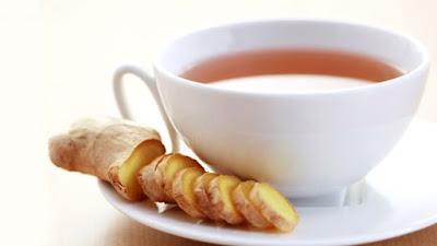 ginger tea gives fresh morning