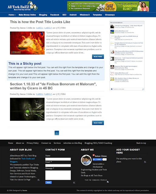 ATB Blogger Templates, Free Blogger Template, Free Blogger Themes