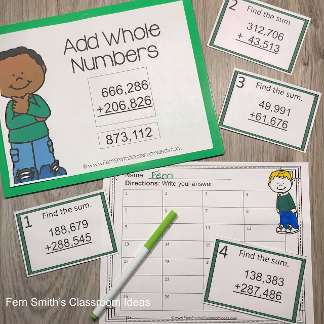 Click Here to Download This 4th Grade Go Math 1.6 Add Whole Numbers Bundle For Your Classroom Today!