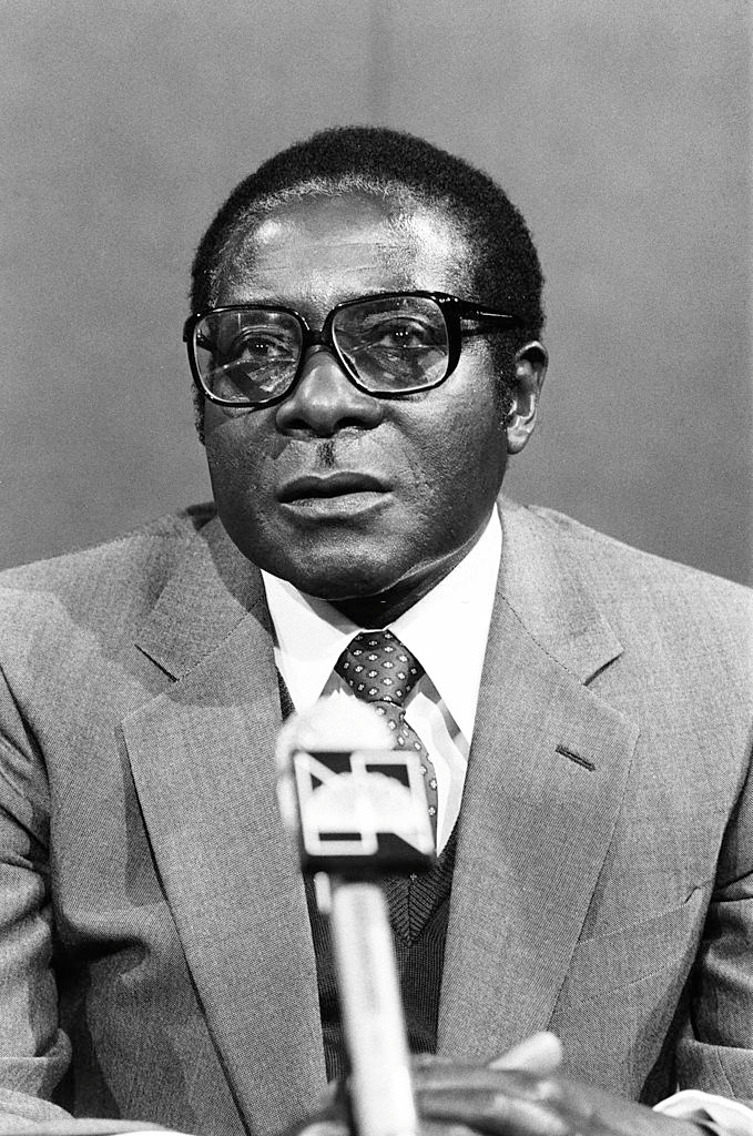 Pictured: (l-r) Prime Minister of Zimbabwe Robert Mugabe on August 24, 1980 -- (Photo by: NBC News/NBCU Photo Bank/NBCUniversal via Getty Images)