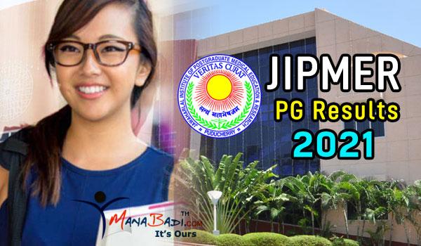 JIPMER PG Results 2021