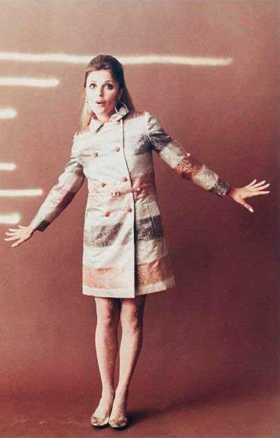 Shaon Tate casaco com brilho anos 70