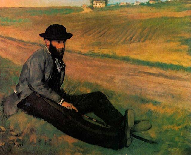 Эдгар Дега - Портрет Эдуарда Мане (1874)