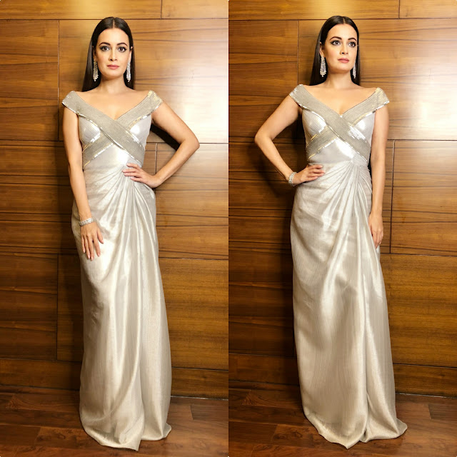 Dia Mirza Wears Amit Aggarwal for the Ravishing Design Awards.