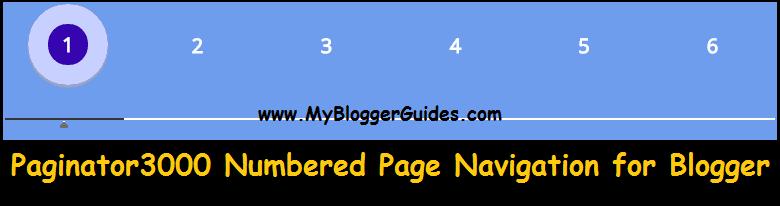 Page Navigation Widget for Blogger, Paginator3000 Scrolling Blogger Widget
