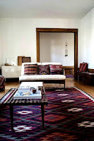 Eye catching living room rugs with flat woven rugs under coffee table