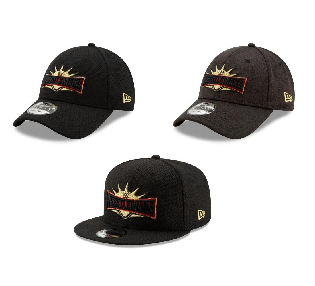 sports shoes 6f5be b3d5c WrestleMania 35 Hat Collection by New Era Cap x WWE