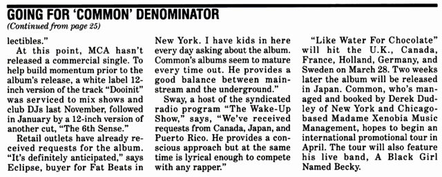 Common Like Water For Chocolate Billboard Feb 2000 Hip-Hop Nostalgia