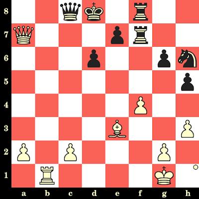 Les Blancs jouent et matent en 4 coups - Oleg Korneev vs Valerij Filippov, Pavlodar, 1991