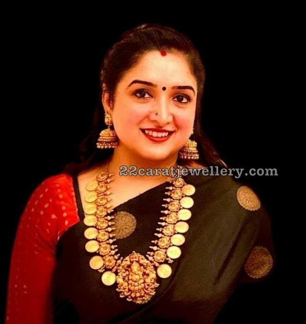 Anitha Vijaykumar Heavy Nakshi Kasu Mala
