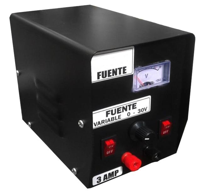 Fuente regulable 0 - 30v - 3amp