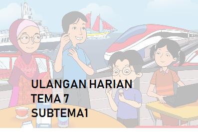 Download Soal Ulangan Harian Tema 7 Subtema 1 Kelas 3