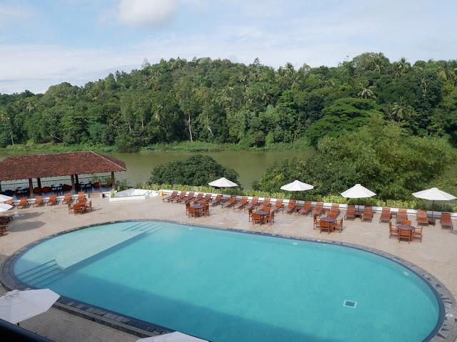 The view from the Cinnamon Citadel Kandy hotel - Sri Lanka