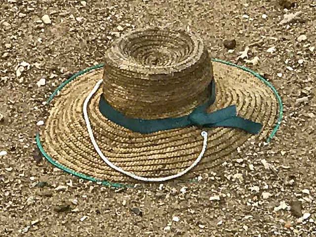 hat, Okinawa, straw, beach