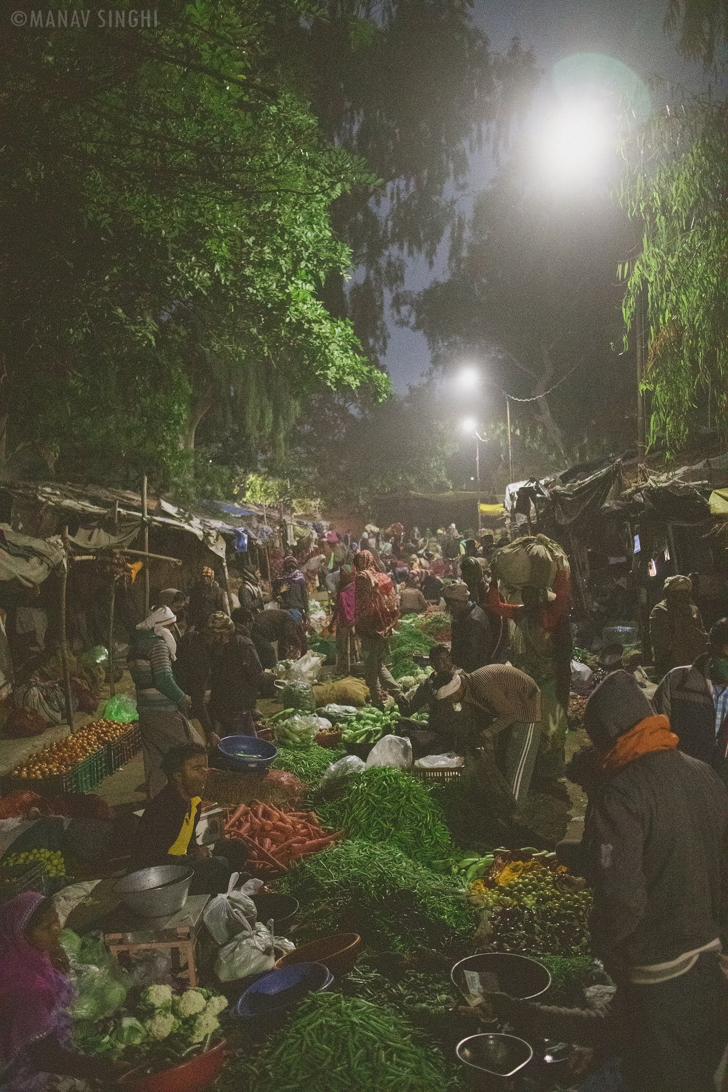 Early Morning Shot of Vegetable Market, Old City Jaipur.