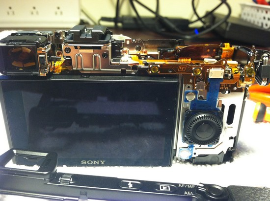sony nex-7 wired shutter release disassembly