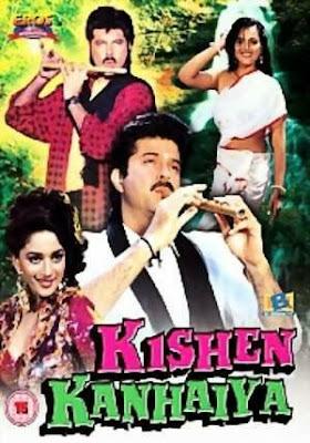 Poster Of Bollywood Movie Kishen Kanhaiya (1990) 300MB Compressed Small Size Pc Movie Free Download worldfree4u.com